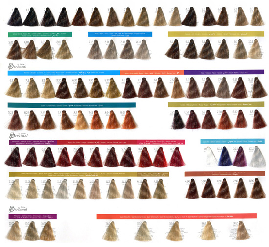 Оттенки стойкой крем-краски Periche crema colorante personal