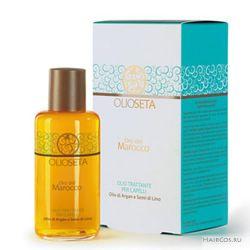 Масло-уход с маслом арганы и маслом семян льна Barex Olioseta oro del Marocco Oil Treatment for Hair